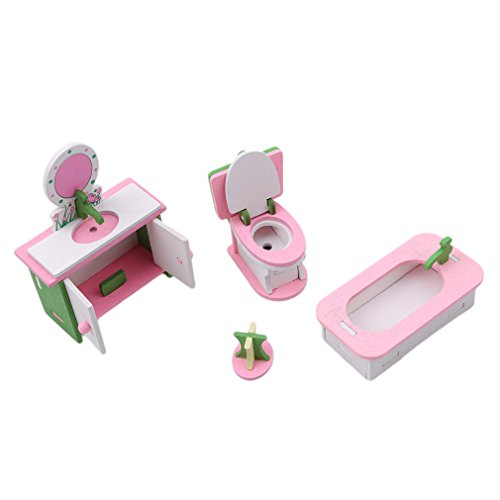 TraveT Mini Furniture Wooden Furniture Toy For Kids, Creative Personality Bedroom Decor