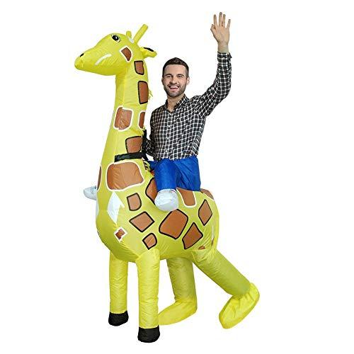Easy Zebra Halloween Makeup (LSGNB Halloween Adult Cosplay Zebra Giraffe Inflatable Cartoon Animal Activity Show Party Props Suit Masquerade (Color : Giraffe, Size :)