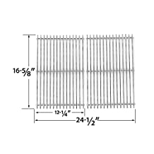 852932 - Centro, Charbroil, Front Avenue, Fiesta, Kenmore, Kirkland, Kmart, Master Chef, and Thermos Gas Grill Solid Stainless Cooking Grid/Cooking Grates