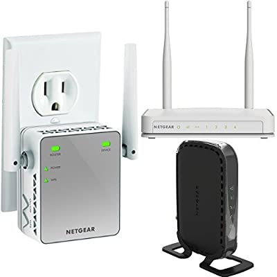 NETGEAR N300 Wi-Fi Router and Range Extender and DOCSIS 3.0 Cable Modem Router