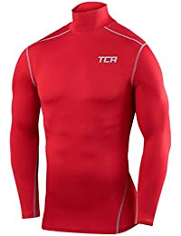 Men's Boys TCA Pro Performance Compression Base Layer Long Sleeve Thermal Top - Crew / Mock Neck