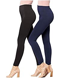 274f7e9606 Premium Women s Fleece Lined Leggings - High Waist - Regular and Plus Size  - 20+