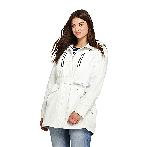 c9db91fbb9 Lands  End Women s Plus Size Lightweight Belted Squall Raincoat