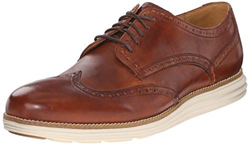 Cole Haan Men's Original Grand Wtip Oxford, Woodbury/Ivory, 9.5 M US