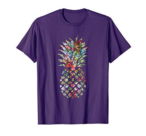 Pineapple Flower Garden Abstract Art Tee Shirt