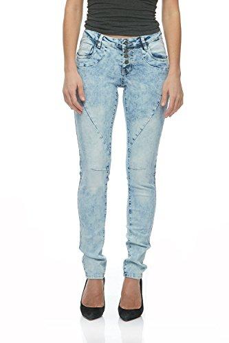0dbcacc0f5b Suko Jeans Women s Power Stretch Denim Skinny Jean Pants 17738 Acid Blue 2