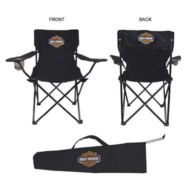 Harley-Davidson Compact Bar & Shield Chair - Black CH30230