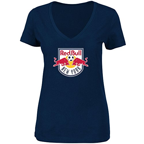 - VF New York Red Bulls MLS Women's Team Logo V-Neck T-Shirt Navy (Medium)