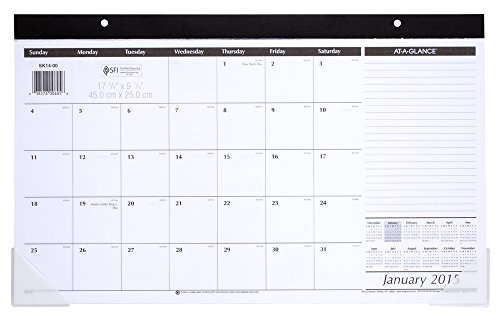 Table Calendar Size : At a glance compact monthly desk pad calendar