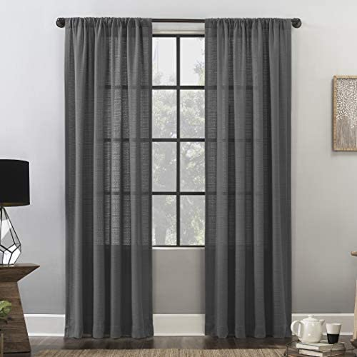 Clean Window Waffle Texture Allergy/Pet Friendly Anti-Dust Curtain Panel