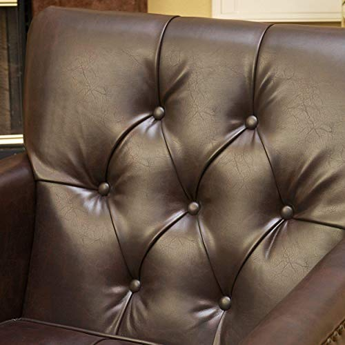 (Best Selling Murphy Leather Club Chair, Brown)