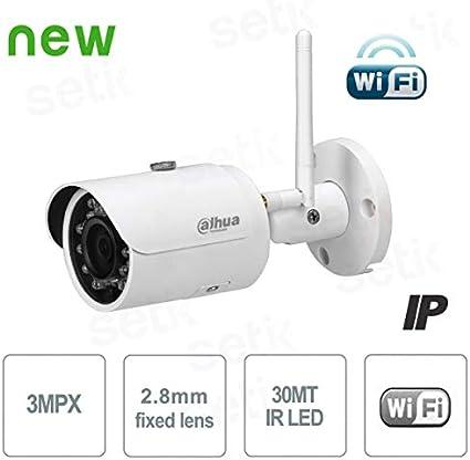 Dahua Europe IPC-HFW1320S-W - Cámara de Red Wi-Fi, Mini Lente infrarroja de 3 MP (DWDR día/Noche (ICR), 3DNR, AWB, AGC, BLC), Color Blanco