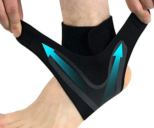 2 Pack Ankle Support Kit, Ankle Brace Compression Surport Sleeves Breathable Elastic Adjustable for Men Women Sports Protection, Injury Recovery, Reduce Swelling, Ankle Strain & Sprains Fatigue (L)