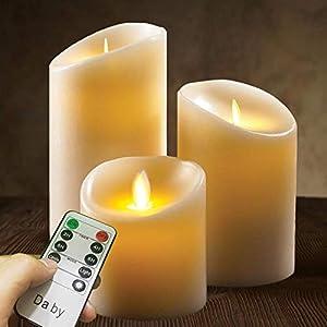 41i2EV1IMsL. SS300 LED Kerzen von Da by, Flammenlose Kerze 300 Stunden Batterie Dekorative Kerzen Set 3 (10cm, 12.8cm, 15.2cm). Die echt…