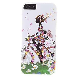 Conseguir Caso ciclismo patrón chica durable duro para el iphone 5/5s