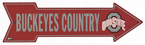 Metal Street Sign - Yard Sign - Buckeyes Country Ohio State