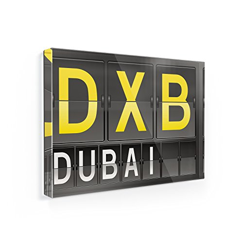 Fridge Magnet DXB Airport Code for Dubai - NEONBLOND