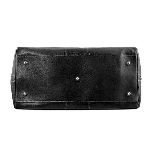 Mujer Leather De Tuscany Hombro Bolso Para Compact Cuero Al Negro Tl141658 POwqBOR
