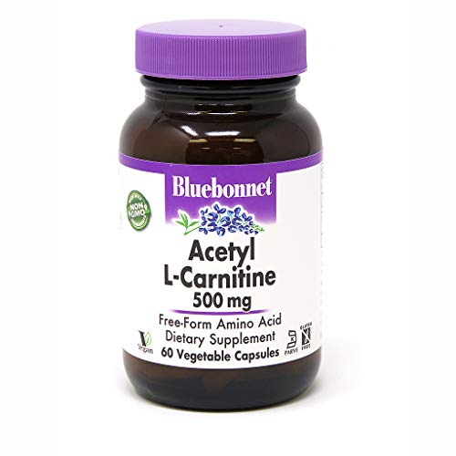 Bluebonnet Acetyl L-Carnitine 500 mg Vitamin Capsules, 60 Count