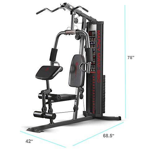 Marcy 150-lb Multifunctional Home Gym Station for Total Body Training MWM-990 (Best Lat Exercises At Home)