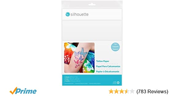 08b30c263172 Amazon.com  Silhouette America Temp Tattoo Paper  Arts