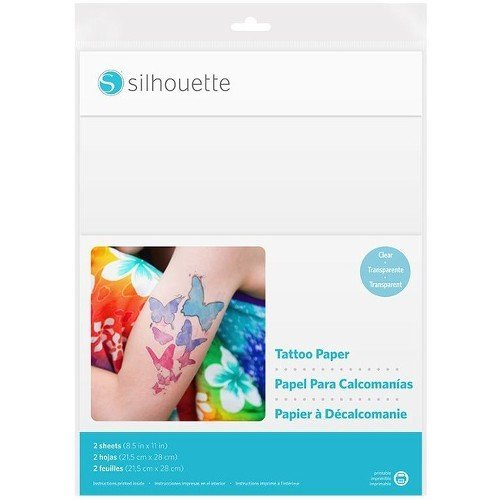 photo relating to Printable Tattoo Paper referred to as Silhouette The us Temp Tattoo Paper, 8.5x11 Inches, Straightforward