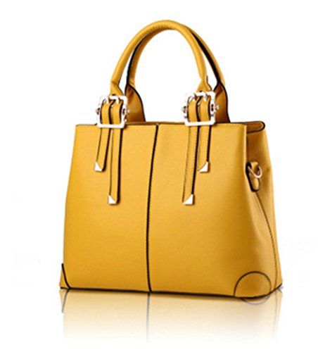 HandBags Body Satchel Shoulder Ladies Fashion Yellow Handbags Leather Designer Hollwald Grab Cross Tote Faux Women wSPCWqt