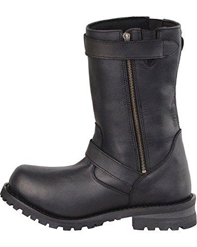 11 Milwaukee Leather Mens 11 Classic Engineer Boot Wide - Mbm9020w Nero