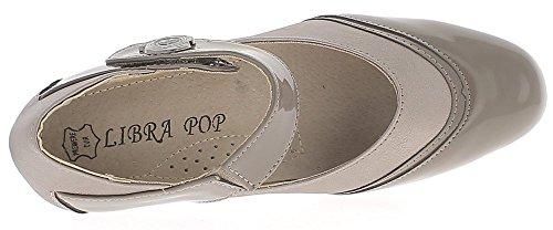 ChaussMoi Zapatos gris con pequeño tacón cómodo 4.5 cm
