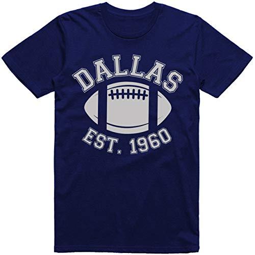 - Dallas City Vintage Football Est. 1960 Classic T-Shirt (4X, Dallas Navy)