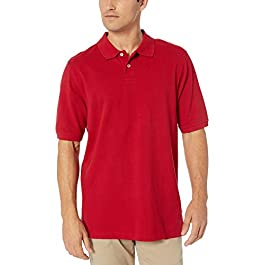 Amazon Essentials Men's Regular-fit Cotton Pique Polo Shirt