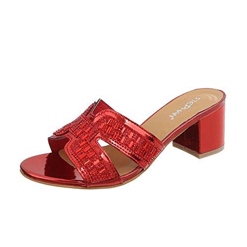 Kitten Chaussures AB Heel Ital rouge Design 1 Sandales Mules Femme 92 FIxTw4