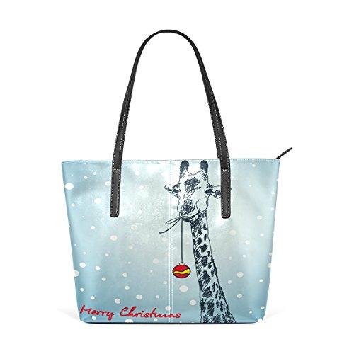 Women's Giraffe Totes Top Fashion Leather Purses Handbag TIZORAX Bags Handle Shoulder PU Christmas qpwax55CE