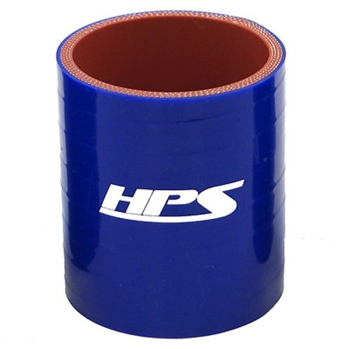 HPS HTSC-112-BLUE Silicone High Temperature 4-ply Reinforced Straight Coupler Hose, 100 PSI Maximum Pressure, 3