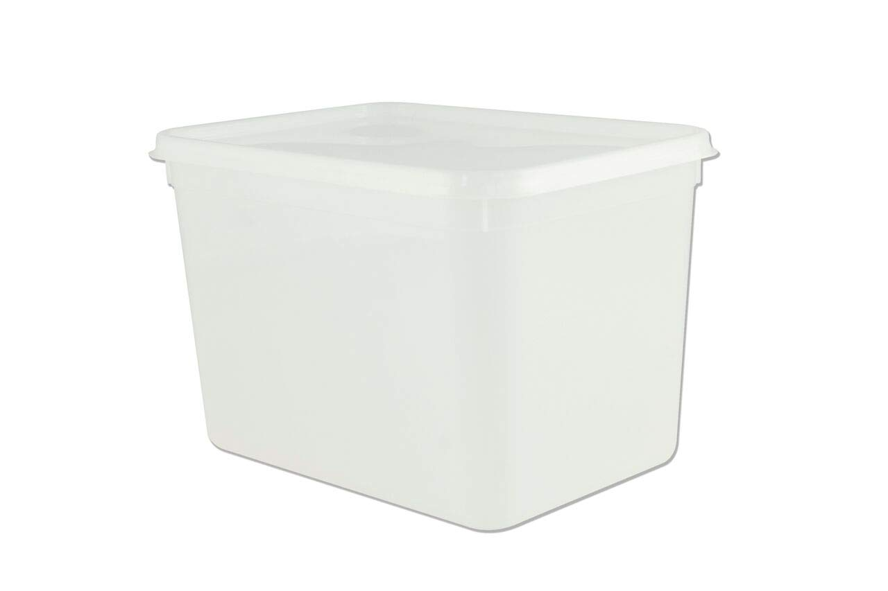 4 litre Rectangular Ice Cream container / Food Storage container (10)
