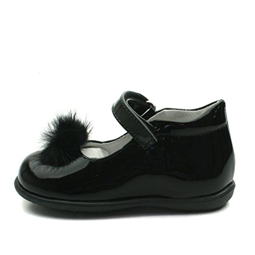SB157 Studio BIMBI Dolly Shoe w/PomPom Smart for Girls >      > Zapato bailarina formales con Pom Pom para chicas Black (Negro)