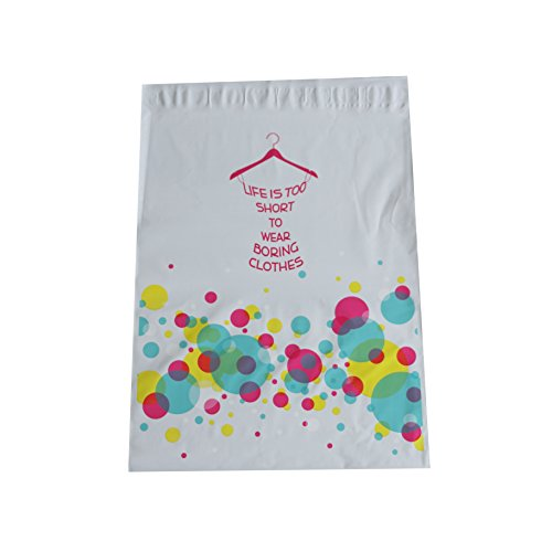 12x15.5 Colorful Pink Blue Bubbles Dress Designer Poly Mailers Shipping Envelopes Boutique Custom Bags 12x15.5 (100)
