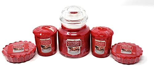 Frosty Gingerbread Small Classic Jar, Votive Candles, and Tarts Wax Melts - 5 Piece Bundle