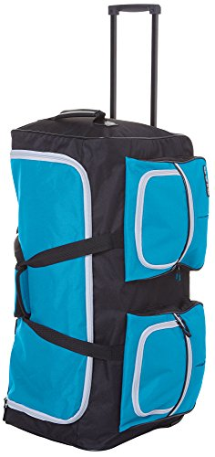 30' Luggage (CIAO! 30'' Wheeled Duffel Bag Luggage 30 Inches Teal blue)