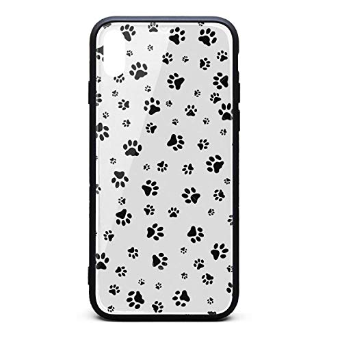Max Case,Dog Footprint Anti-Scratch Shockproof Slim Cover Case Compatible with Apple iPhone Xs Max Case,TPU and Tempered Glass ()