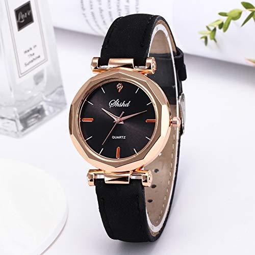 Women Watch Sale Clearance Vintage Matte Faux Leather Rhombus Rhinestones Quartz Soft Wrist Watch by Gaweb (Image #2)