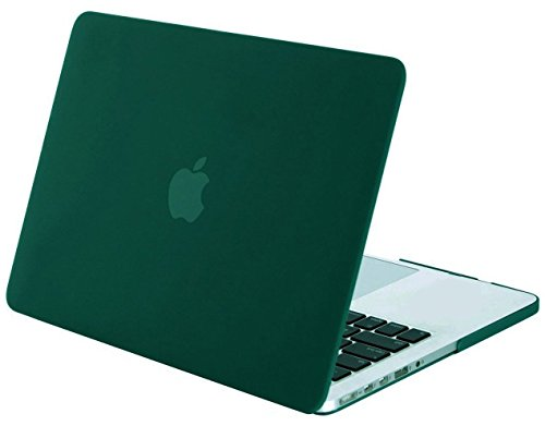 MOSISO Plastic Hard Shell Case Cover Only Compatible MacBook Pro (W/O USB-C) Retina 13 Inch (A1502/A1425) (W/O CD-ROM) Release 2015/2014/2013/end 2012, Peacock Green