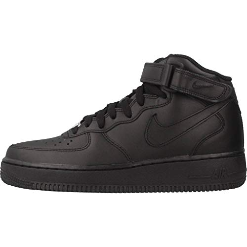 Sportive Black Donna 1 Force Mid Nike Air Wmns Scarpe '07 Le 8qPcgFWH1