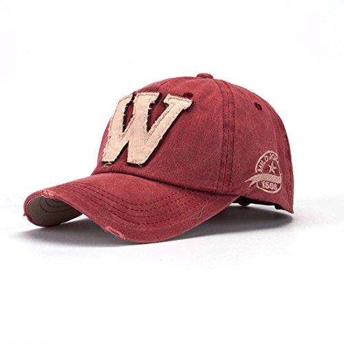 W Béisbol de Gorras talla de Verano de Gris Deportes Sombreros SnapBack Sombreros Ocio Sombrero Sombra Yesmile Unisex Carta única Rojo Hockey SqB10wWP