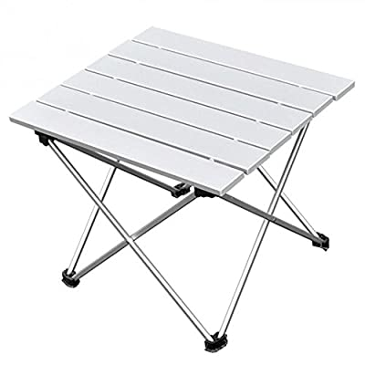 ZedYasou Portable and Ultralight Folding Camping Picnic Table,Lightweight Aluminium Outdoor Desk for Travel, Fishing, BBQ, Beach Party