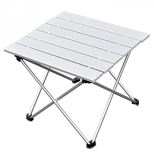 Aluminum Portable Folding Camping Table,Compact Ultralight Picnic Table Roll up with Carrying Bag for Indoor and Outdoor Picnic, Beach, Hiking, Travel, Fishing