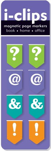 Punctuation i-Clip Magnetic Page Markers (Set of 8 Magnetic Bookmarks)