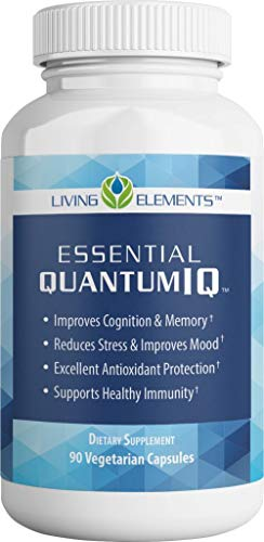 Quantum IQ Brain Supplement – Improve Memory Focus Mood – Premium Antioxidant Protection – 90 Vegetable Capsules