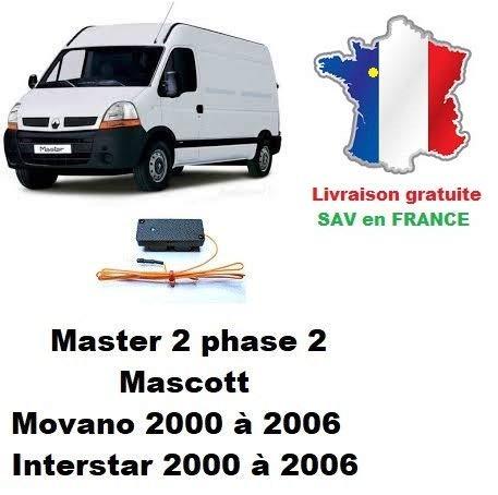 Boitier de désactivation antidémarrage Renault Master 2, Opel Movano, Nissan Interstar