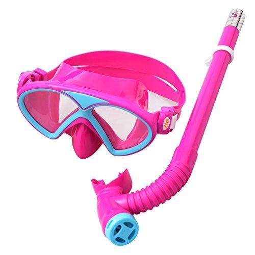 YITU Kids Silicone Scuba Swimming Swim Diving Mask Snorkel Glasses Set Anti Fog Goggles Kids Silicone Scuba Swimming Swim Diving Mask Snorkel Glasses Set Anti Fog Goggles -Triangle-Purple